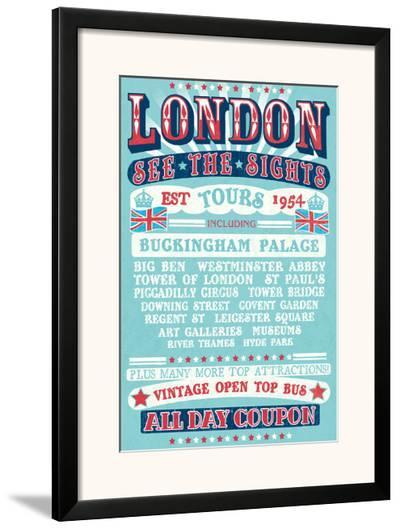 London Tours '54-The Vintage Collection-Framed Art Print