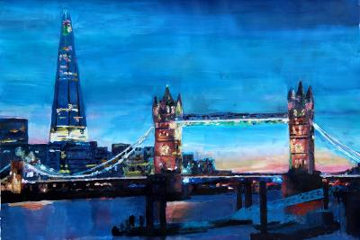 London Tower Bridge and The Shard at Dusk-Markus Bleichner-Art Print