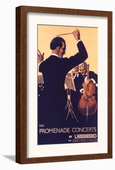 London Transport, Underground Conductors Orchestras Instruments, UK, 1920  Framed Art Print by | Art com