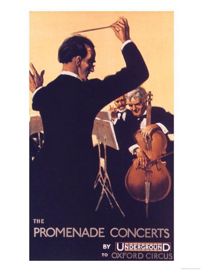 London Transport, Underground Conductors Orchestras Instruments, UK, 1920--Giclee Print