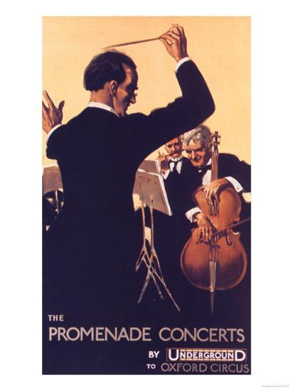 London Transport, Underground Conductors Orchestras Instruments, UK, 1920  Giclee Print by | Art com