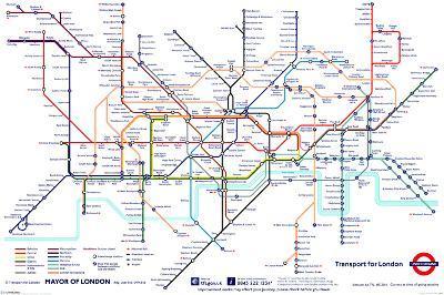 London Underground Map--Poster