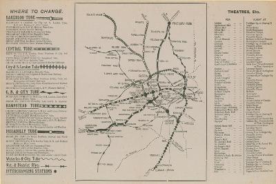 London Underground Map--Giclee Print