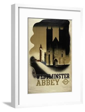 London Underground Poster Featuring Westminster Abbey, 1934