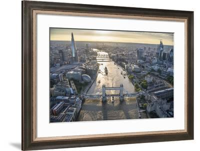 London Vista - City Bridges-Jason Hawkes-Framed Giclee Print