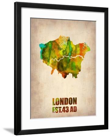 London Watercolor Map 1-NaxArt-Framed Art Print