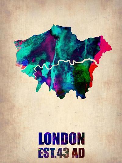 London Watercolor Poster-NaxArt-Art Print