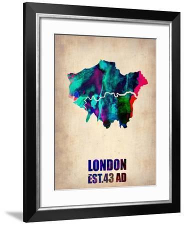 London Watercolor Poster-NaxArt-Framed Art Print