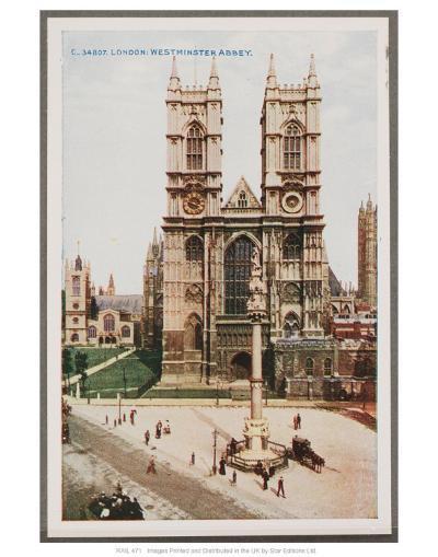 London, West Minster Abbey--Art Print