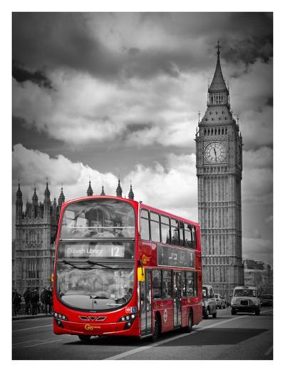 London Westminster Bridge Traffic-Melanie Viola-Art Print