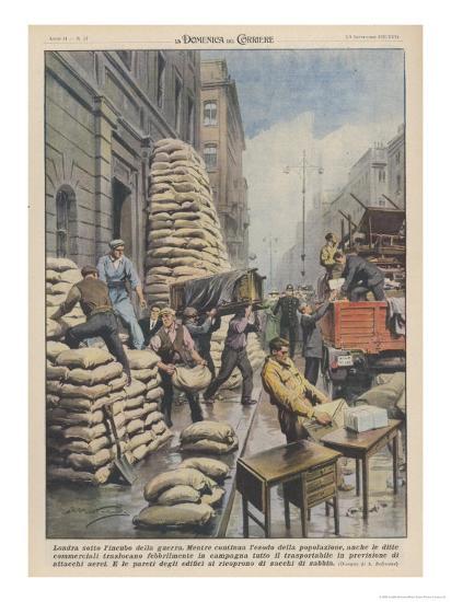 Londoners Prepare Blitz-Achille Beltrame-Giclee Print