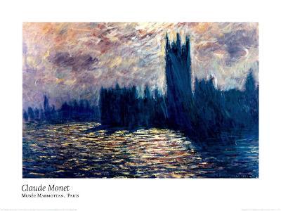Londres de Parlement-Claude Monet-Art Print