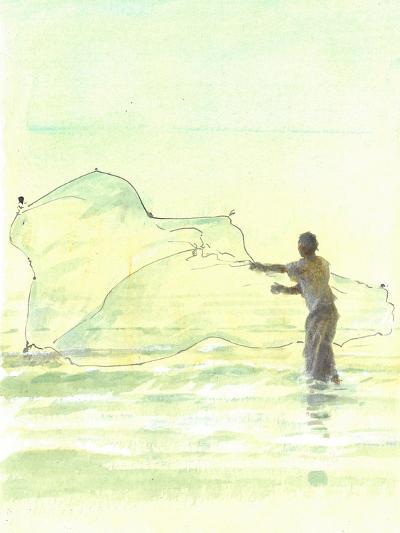 Lone Fisherman 2, 2015-Lincoln Seligman-Giclee Print
