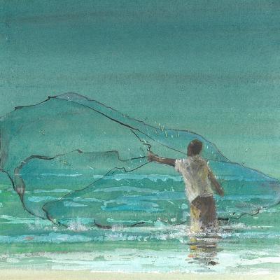 Lone Fisherman 3, 2015-Lincoln Seligman-Giclee Print