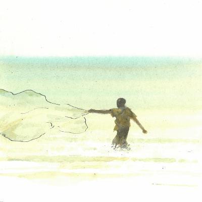 Lone Fisherman 6, 2015-Lincoln Seligman-Giclee Print