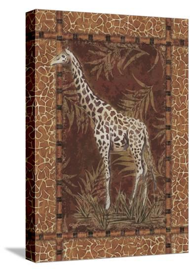 Lone Giraffe-Kathleen Denis-Stretched Canvas Print