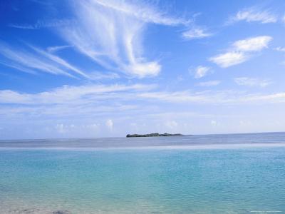 Lone Island in Ocean, Florida Keys, Florida, USA-Terry Eggers-Photographic Print