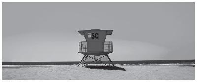 Lone Lifeguard Shack--Art Print