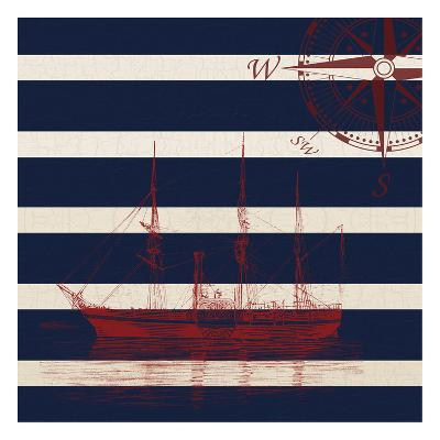 Lone Ship-Sheldon Lewis-Art Print