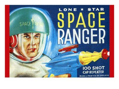 Lone Star Space Ranger 100 Shot Cap Repeater--Art Print