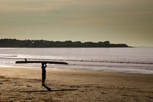 Lone Surfer Newport Rhode Island