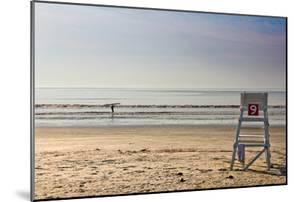 Lone Surfer on Newport Beach Rhode Island