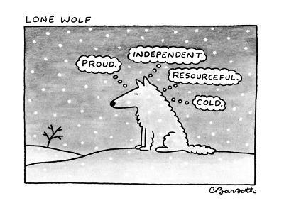 Lone Wolf - New Yorker Cartoon-Charles Barsotti-Premium Giclee Print
