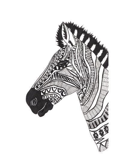 Lone Zebra-Pam Varacek-Art Print