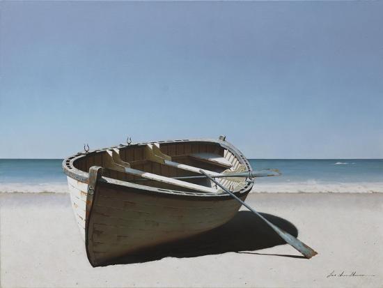 Lonely Boat on Beach-Zhen-Huan Lu-Giclee Print