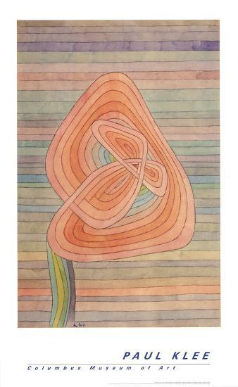 Lonely Flower-Paul Klee-Art Print
