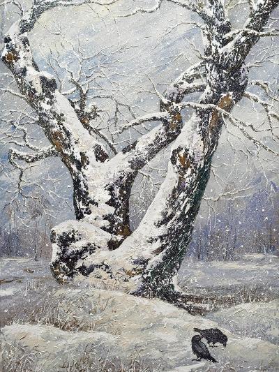 Lonely Oak In Winter Wood-balaikin2009-Art Print