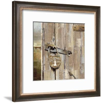 Long Barn - Barn Door-Mark Chandon-Framed Art Print