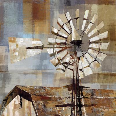 Long Barn - Windmill-Mark Chandon-Art Print