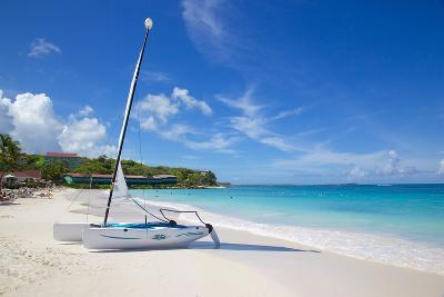 Long Bay and Beach and Hobie Cat, Antigua, Leeward Islands, West Indies, Caribbean, Central America-Frank Fell-Photographic Print