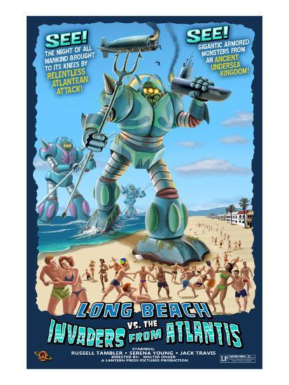 Long Beach, California - Atlantean Invaders-Lantern Press-Art Print