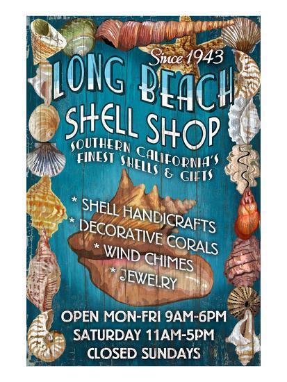 Long Beach, California - Shell Shop-Lantern Press-Art Print