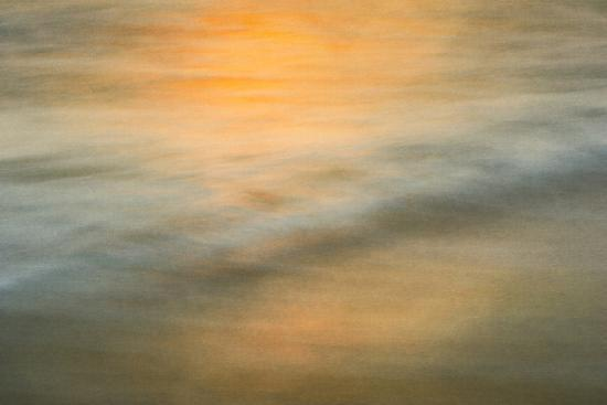 Long exposure at sunset of colors on water-Sheila Haddad-Premium Photographic Print