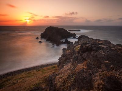 Long Exposure of Buraco Da Raquel Rock Formation on Fernando De Noronha at Sunrise-Alex Saberi-Photographic Print