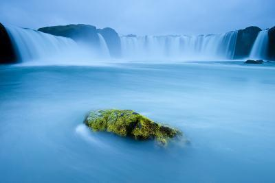 Long Exposure Of Godafoss Waterfall, Iceland-Inaki Relanzon-Photographic Print