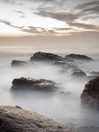 Long Exposure of Surf and Rocks at Sunrise, Tangalle, Sri Lanka, Indian Ocean, Asia-Charlie Harding-Photographic Print