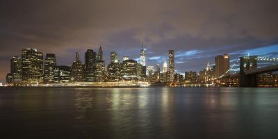 Long-Exposure Photography, View at Manhattan, New York, Usa-Benjamin Engler-Photographic Print