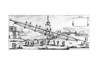 Long Focal Length Refracting Telescope, 1728--Giclee Print