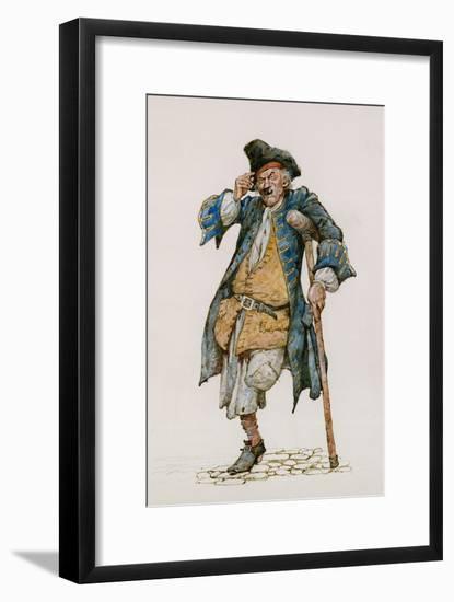 Long John Silver-Peter Jackson-Framed Premium Giclee Print