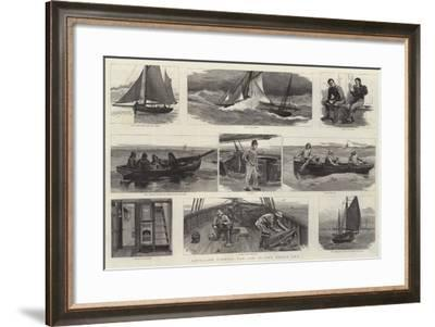 Long-Line Fishing for Cod in the North Sea-Joseph Nash-Framed Giclee Print