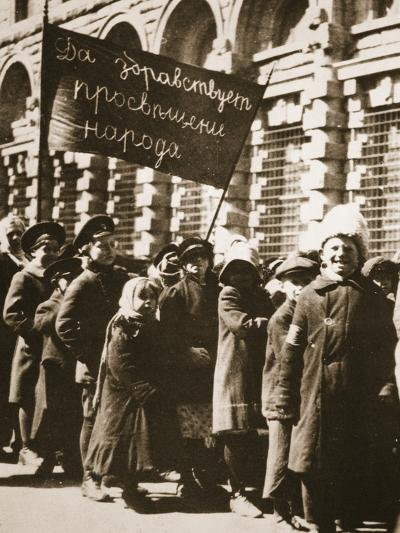 Long Live Education for the People: Even the Children are Demonstrating--Photographic Print