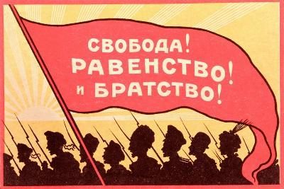 Long Live Equality and Brotherhood!', Postcard from the Russian Revolution, C.1917-20--Giclee Print