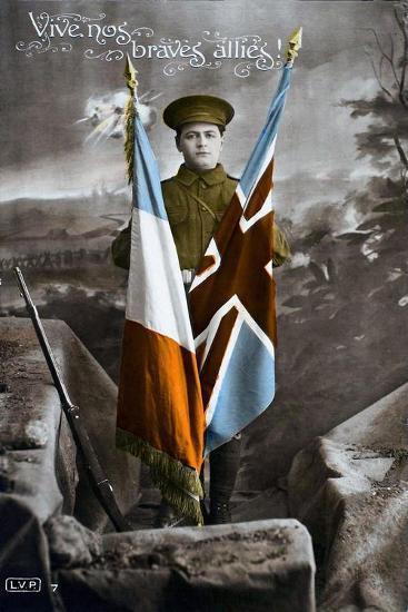 Long Live Our Brave Allies!, 1915--Giclee Print