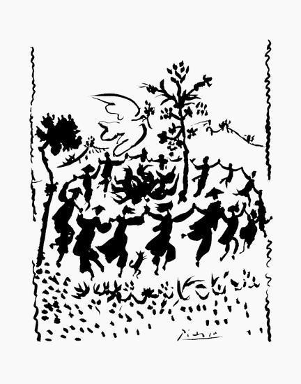Long Live Peace-Pablo Picasso-Art Print