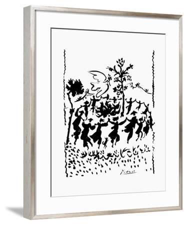 Long Live Peace-Pablo Picasso-Framed Art Print