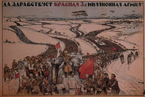 Long Live the Three-Million Man Red Army!, 1919--Giclee Print